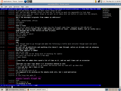 Irssi screenshot